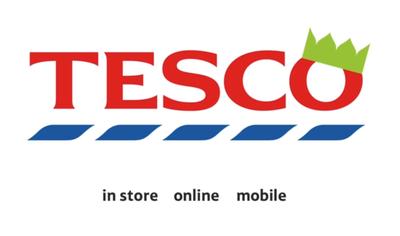 christmas tesco logo with subtle change