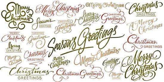 christmas font designs