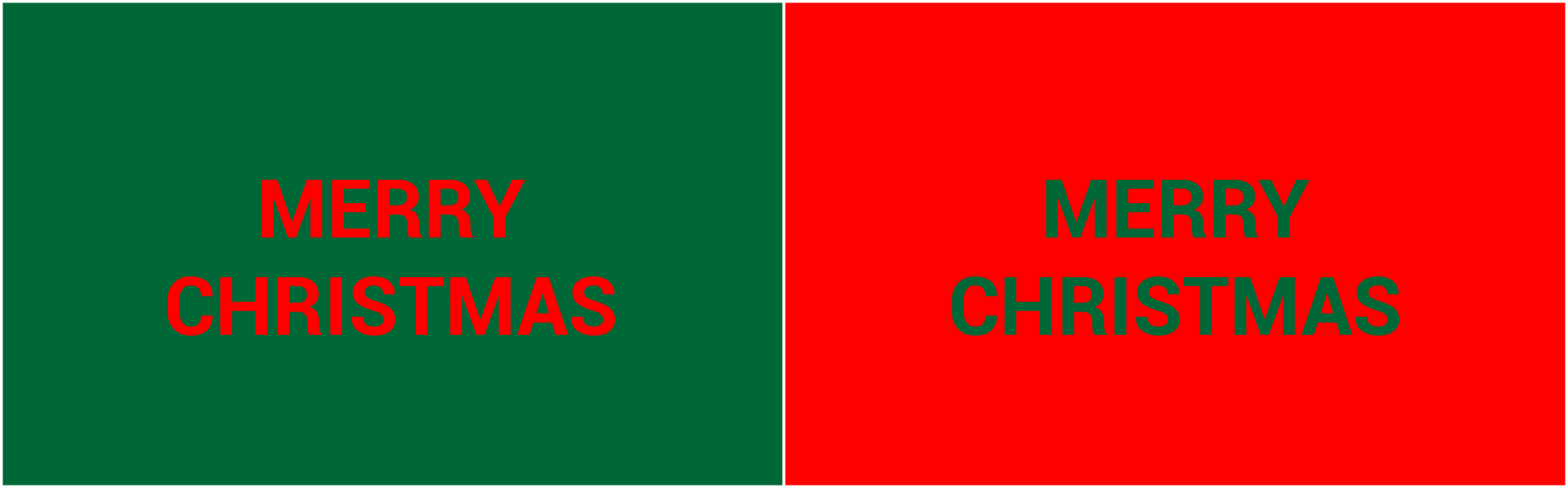 red and green colour with text is bad design