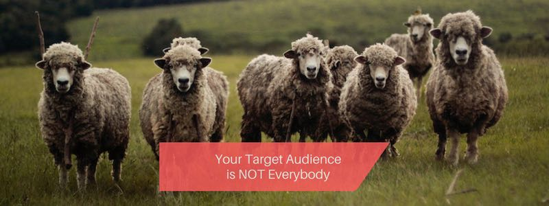 target audience is not everybody